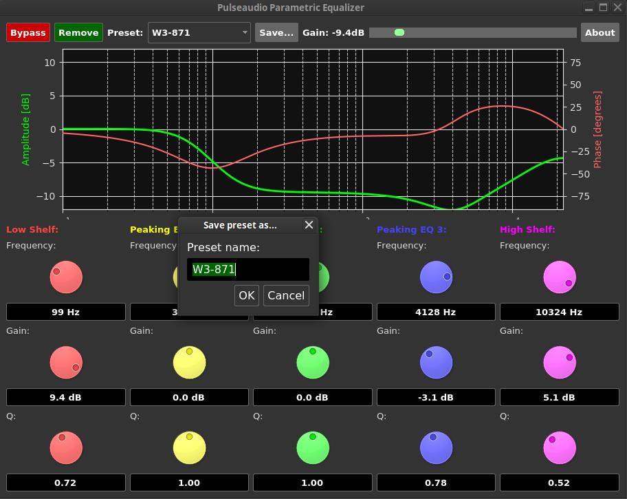 Pulseaudio Parametric Equalizer :: T5! DIY Audio Software